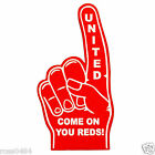 United Foam Hand Finger Selection Red Black White Manchester