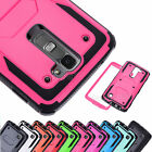 For LG K7/ Tribute 5 Hybrid Shockproof Rubber Dual Layer Hard Phone Case Cover