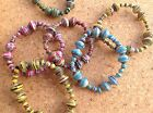 Colourful Recycled Paper Beads Elasticated Bracelet. Handmade in Thailand