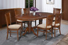 SOMERVILLE DINING SET WITH MICROFIBER UPHOLSTERED SEATS IN ESPRESSO FINISH