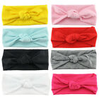 Newborn Baby Girl Cotton Elastic Headband Knot Headwear HeadWrap Accessories