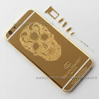 New Skull Head Limited 24K Gold Plated Back Housing Cover For iPhone 6/6s & Plus
