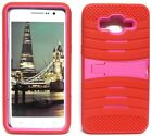 RED & HOT PINK U-Case Hybrid Cover Case for Samsung Galaxy Grand Prime