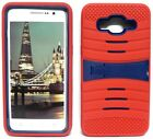 RED & NAVY BLUE U-Case Hybrid Cover Case for Samsung Galaxy Grand Prime
