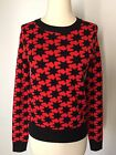 Urban Outfitters Sweater Red Galaxy Stars Rayon New XS Small S