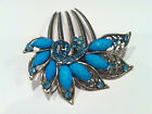 Bridal Hair Accessory Peacock and feather inspired Design Hair Comb Stick Pin in