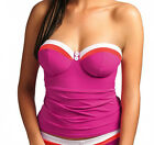 NEW Freya Swimwear Revival Padded Bandeau Tankini Top 3221 Sorbet VARIOUS SIZES