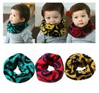 Smiley Face Girl Kid Child Scarf Neckerchief Round O Ring 6 month - 10 YRS Winte