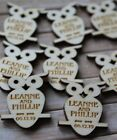 OWLS WOODEN PERSONALISED Wedding / CP Table Confetti, Scatter Favours