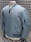 MA1 US Military Style Bomber Jacket MOD/Scooter/Bikers Silver/Grey  - NEW