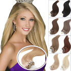 """7A Straight Micro Bead Loop Ring Remy Human Hair Extensions 16""""-24""""1G/S100S 50S"""