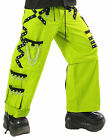 DEAD THREADS YELLOW CYBER GOTH PUNK RAVE TROUSERS PANTS 30-38