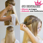 "15""-24""Invisible Remy Hair Extension Wire Filp IN Headband Crown Extensions 80g"