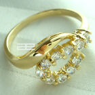 Elegant 14K 14CT Yellow Gold Filled With Zircon Ladies Ring R62 SIZE M ; O