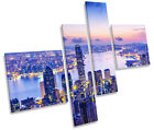 Hong Kong City Harbour Sunset MULTI CANVAS ART Box Frame Picture