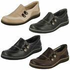 SUAVE LADIES FULL SMART CASUAL SHOES 'LUCY' BLACK,BROWN OR BEIGE LEATHER