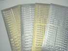 2 x NEW DESIGN Wedding OR Evening Invitation Peel Off Stickers GOLD or SILVER