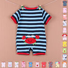 Newborn Baby Kids Cotton Clothes Romper Sleepsuit Playsuit Bodysuit T Shirt Tops