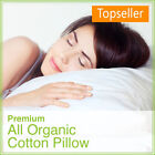 NON-GMO Set of 2 - 100% All Organic Cotton Pillow Both Fill & Covering Organic image