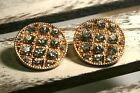 Women's Elegant Round Earrings on the Clip with Rhinestone, Please Choose