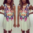 New Women's Casual Summer Sleeveless Floral Cocktail Evening Party Mini Dress