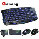 Usb Wired Backlit Gaming Keyboard Optical Pro Game Mice And Mouse Pad Bundle Set