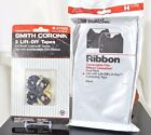 Lot of 2 Smith Corona Ribbons H63446 with 2 Lift-Off Tapes, All New in Sealed Pk