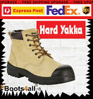 New Hard Yakka Gravel Mens Work Boots Lace Up Safety Steel Toe Anti StaticY60085