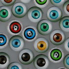 Mixed Dome Flatback Eye of the Devil Pattern Glass Cabochons DIY Crafts