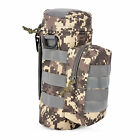 Militray Tactical Molle Zipper Water Bottle Hydration Pouch Bag Carrier f /Hiking