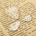 Drop Clear Glass Dome Flat Back Cabochon Pendants Craft Magnify Base Cover 20Pcs