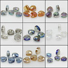 5pcs 12x13mm Faceted Triangle Glass Crystal Loose Spacer Beads
