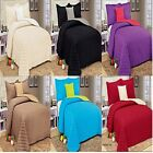 4 Piece Microfiber Quilted Bedspread Set Full Coverlet Pillow shams- 6 colors