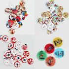 New Mixed Printed 2 Holes Resin Round Buttons Sewing and Scrapbook 20mm 100 Pcs