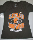 Cleveland Browns NFL Women's Football Logo T-Shirt, Large