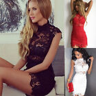 Women Lace Bandage Bodycon Beach Summer Casual Cocktail Evening Party Mini Dress