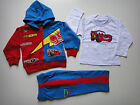 BNWT Disney Car Cars 3pcs fleece hooded hoodie tracksuit outfit Set Size 1-5