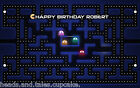 80s Computer Game Pacman Pac Man Birthday Party Cake Decoration icing sheet