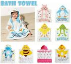 Kids Swimming Bathrobe Towel Cartoon Toddler Girl Boy Animal Bath Beach HOODED
