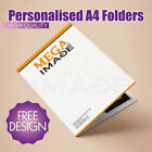 PERSONALISED A4  PRESENTATION FOLDERS WITH INSIDE POCKET
