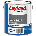Leyland Trade Vinyl Matt Emulsion Paint Magnolia or Brilliant White