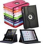 Leather Case Stand for iPad Air Mini 2 3 4 US Location 360 Rotating US Location