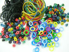 grommets-o rings-black and coloured tattoo machine bands approx 100 per pack