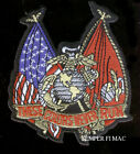 US MARINES THESE COLORS DON'T RUN MARINES PATCH GIFT PIN UP USA FLAG VETERAN WOW