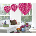 Pink Decoration Honeycomb Heart 30cm - FREE UK SHIPPING