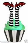 EDIBLE STAND UPS Cake Topper 24 x WIZARD OF OZ Witch of East LEGS Ruby Slippers