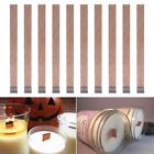 Внешний вид - 10 x 3 Sizes Candle Wood Wick with Sustainer Tab Candle Making Supply New