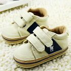 Baby Toddler infant boy girl Velcro Soft Sole Crib Shoes sneaker size 0 18Months