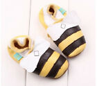 Baby Girls Moccasins Genuine Leather Crib Shoes Bee Pattern Star DB169
