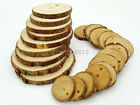 Natural Pine Tree Wood Sliced Top Drilled Round Pendant Charm Beads 2.5CM ~ 9CM
